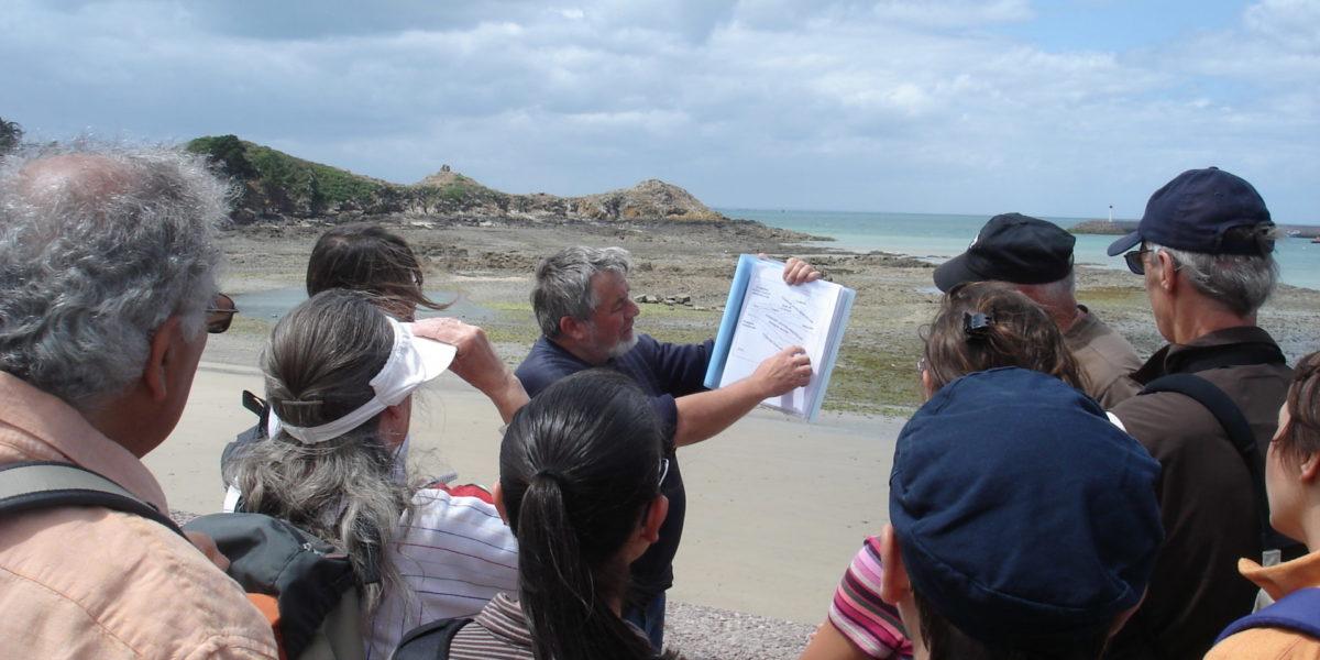 La Pointe de la Heussaye en compagnie de Jean PLAINE, géologue