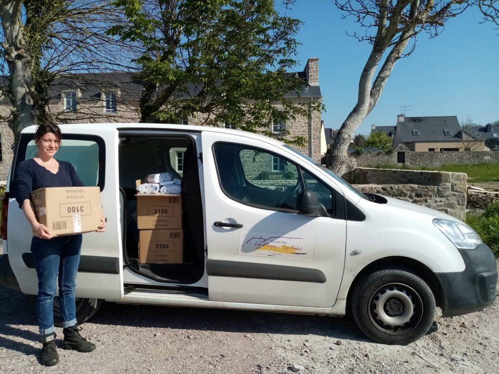 Don de 400 kits hygiène pour les EHPAD du territoire