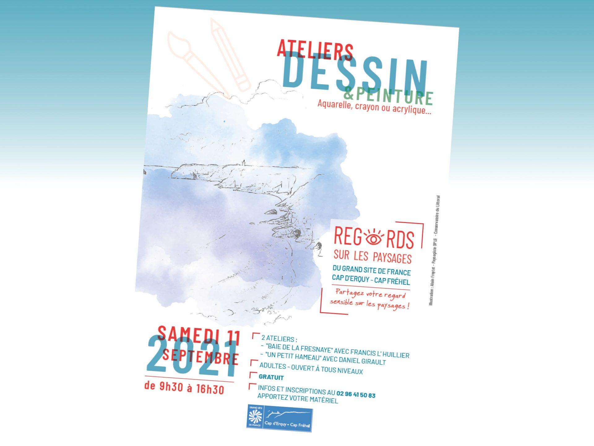 Participez à 2 ateliers dessin & peinture avec le Grand Site de France !